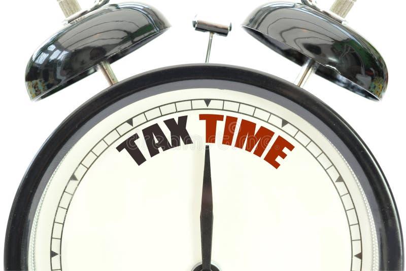 De tijd van de belasting royalty-vrije stock afbeelding