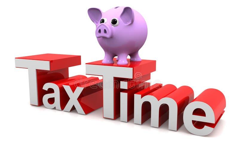 De tijd van de belasting royalty-vrije illustratie