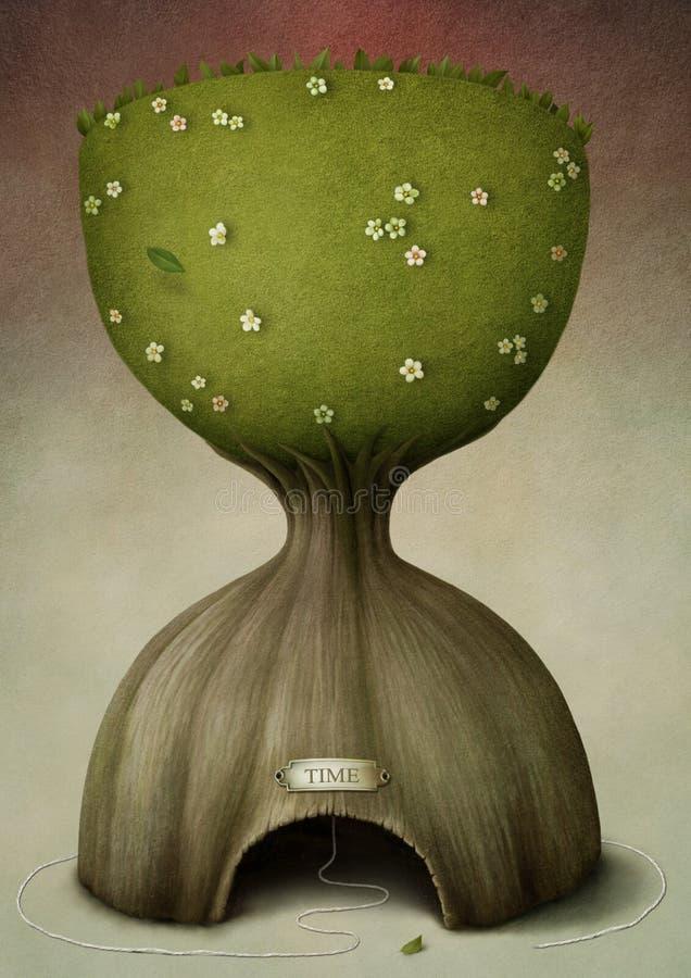 De Tijd van de boom vector illustratie