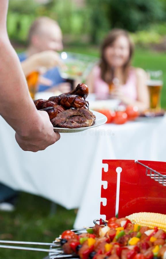 De tijd van de de zomerbarbecue stock fotografie