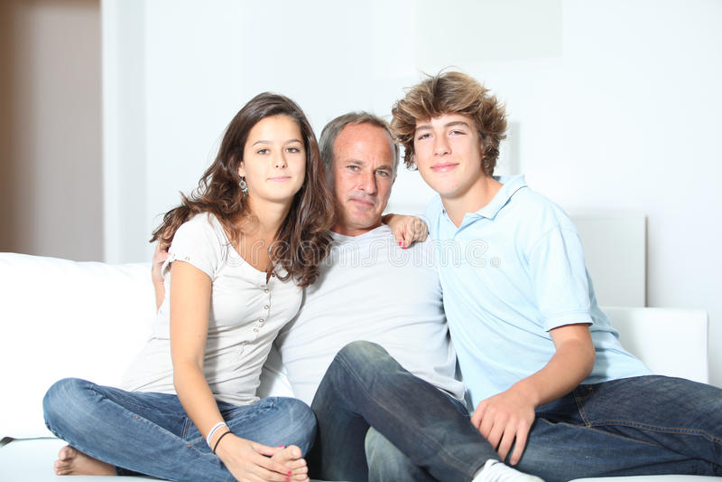 De tijd van de familie royalty-vrije stock foto's