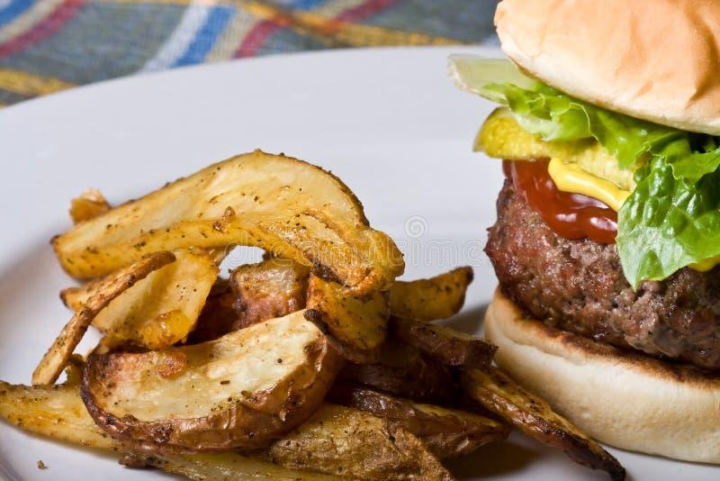 De tijd van de hamburger stock afbeeldingen