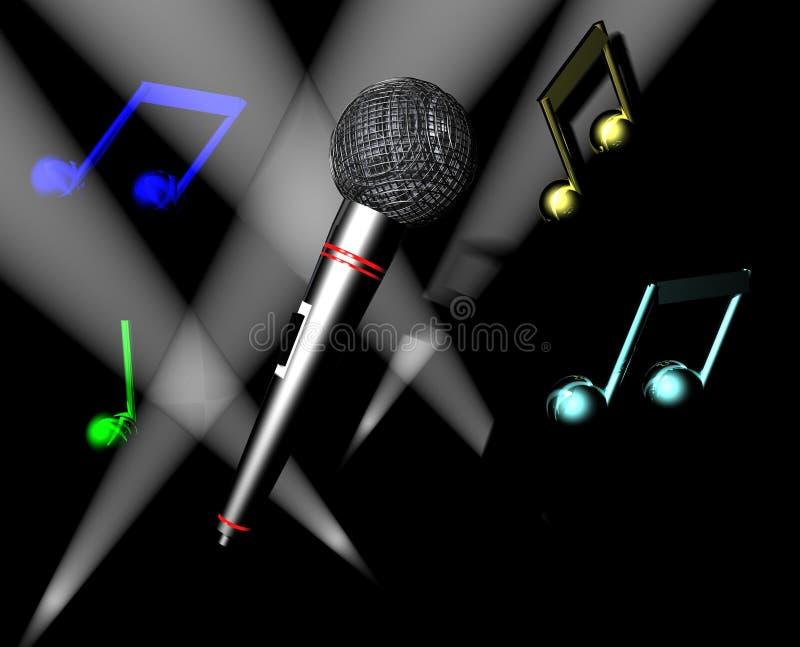 De Tijd van de karaoke vector illustratie