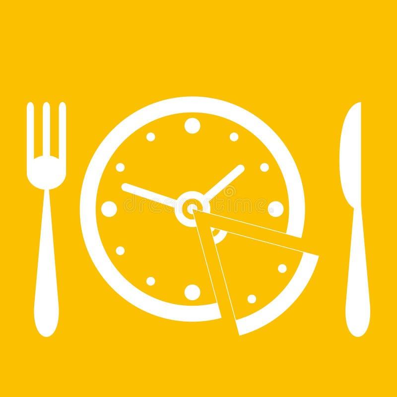 De tijd van de lunch royalty-vrije illustratie