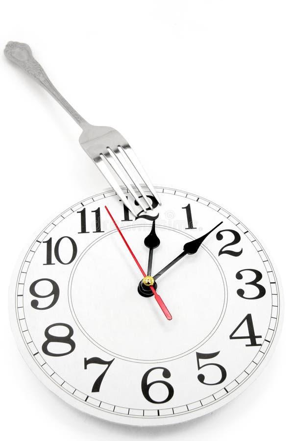 De tijd van de lunch stock afbeelding