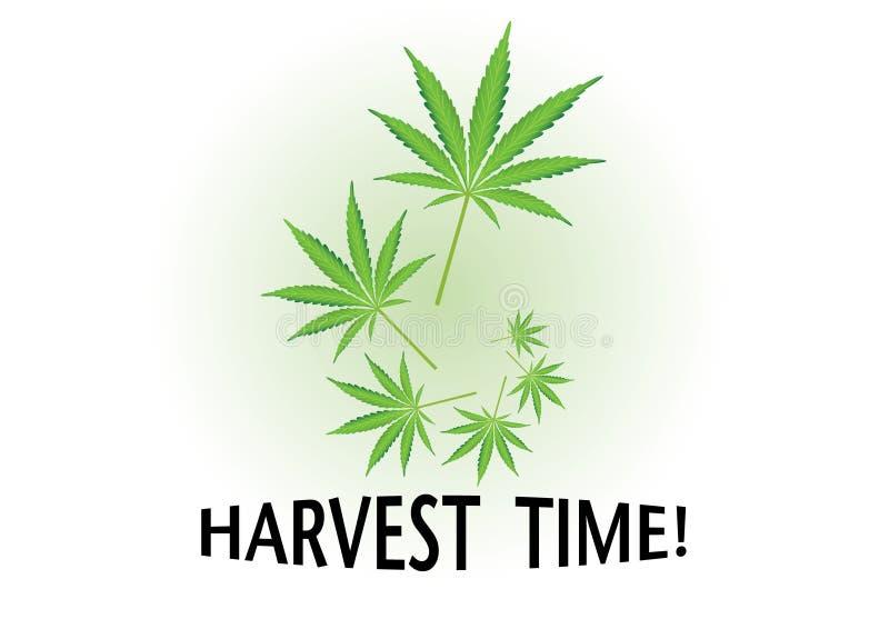 De tijd van de oogst vector illustratie