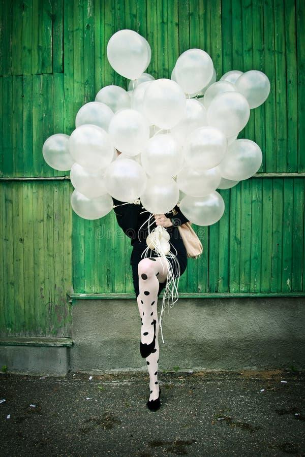 De tijd van de partij, ballons royalty-vrije stock afbeelding