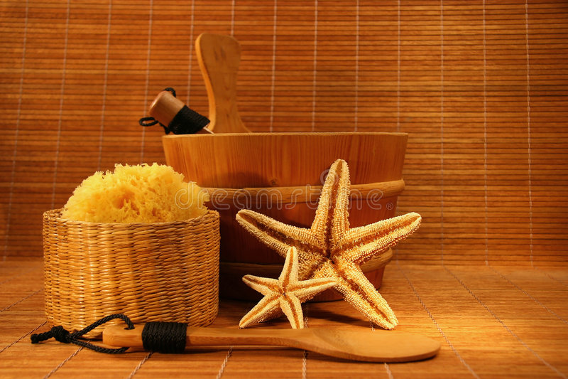 De tijd van de sauna royalty-vrije stock afbeeldingen