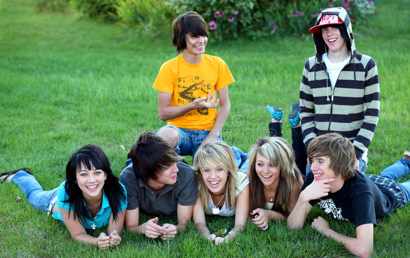 De Tijd van de tiener stock afbeeldingen