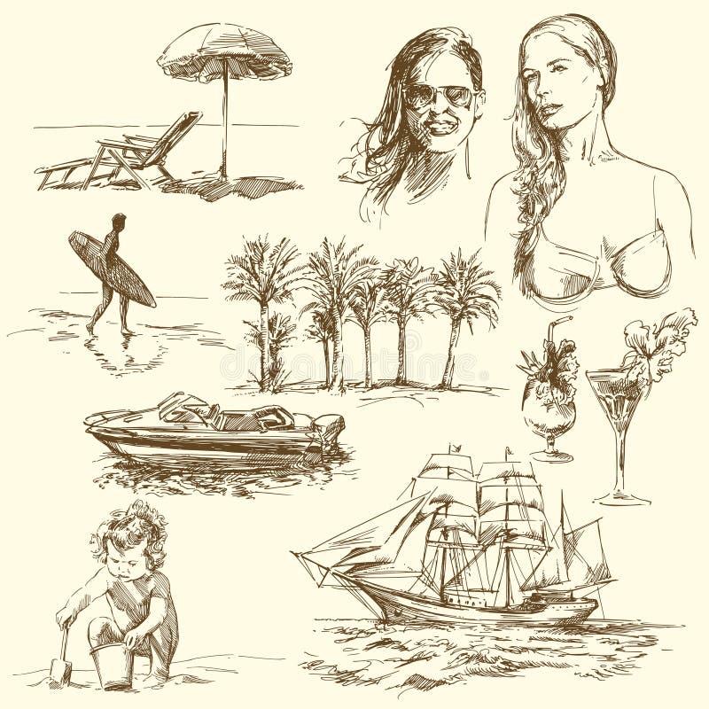 De tijd van de zomer royalty-vrije illustratie