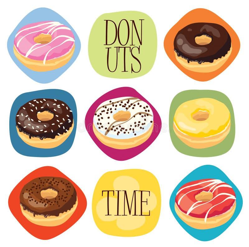 De tijd van Donuts stock illustratie