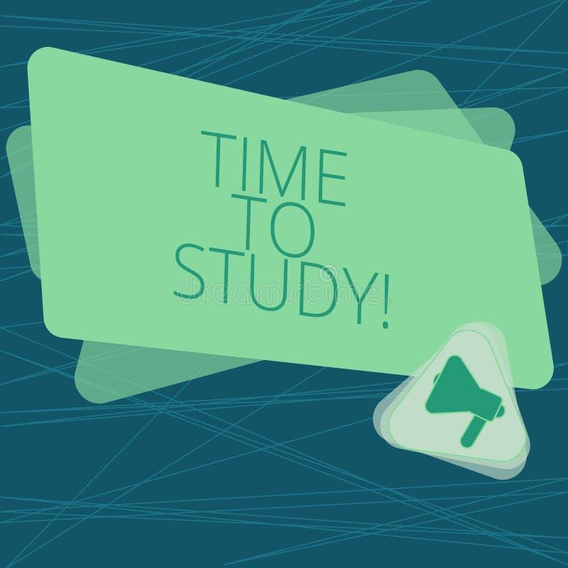 De Tijd van de handschrifttekst te bestuderen Het concept die Examens betekenen vergt vooruit concentraat in studies leert de les vector illustratie