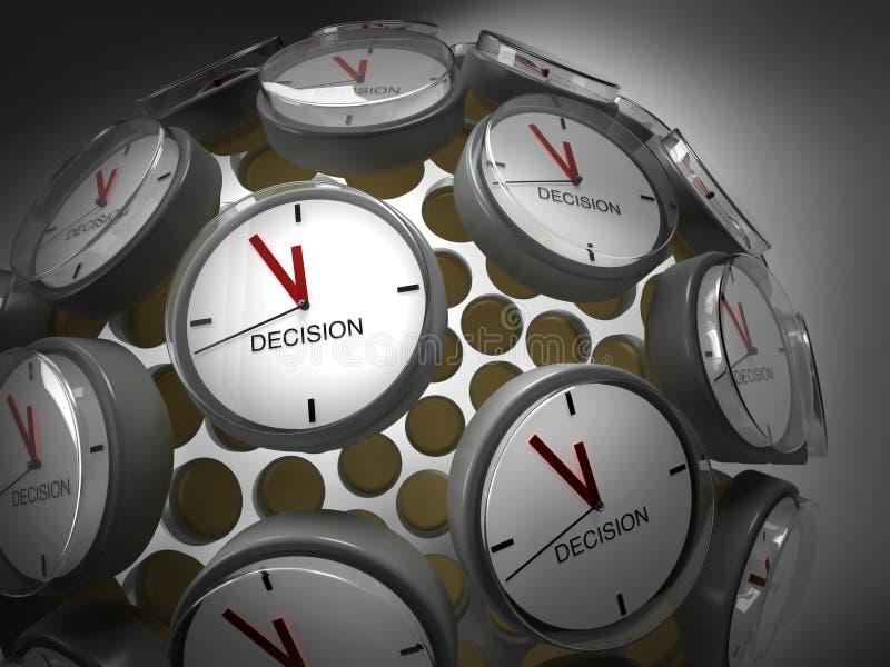 De Tijd van het besluit vector illustratie