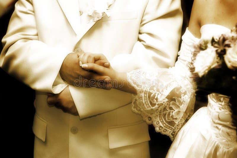 De tijd van het huwelijk stock fotografie