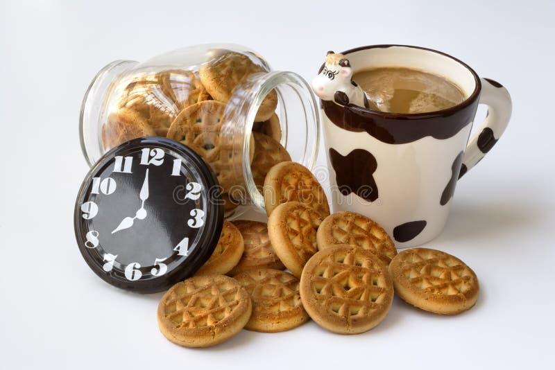 De tijd van het ontbijt stock foto's