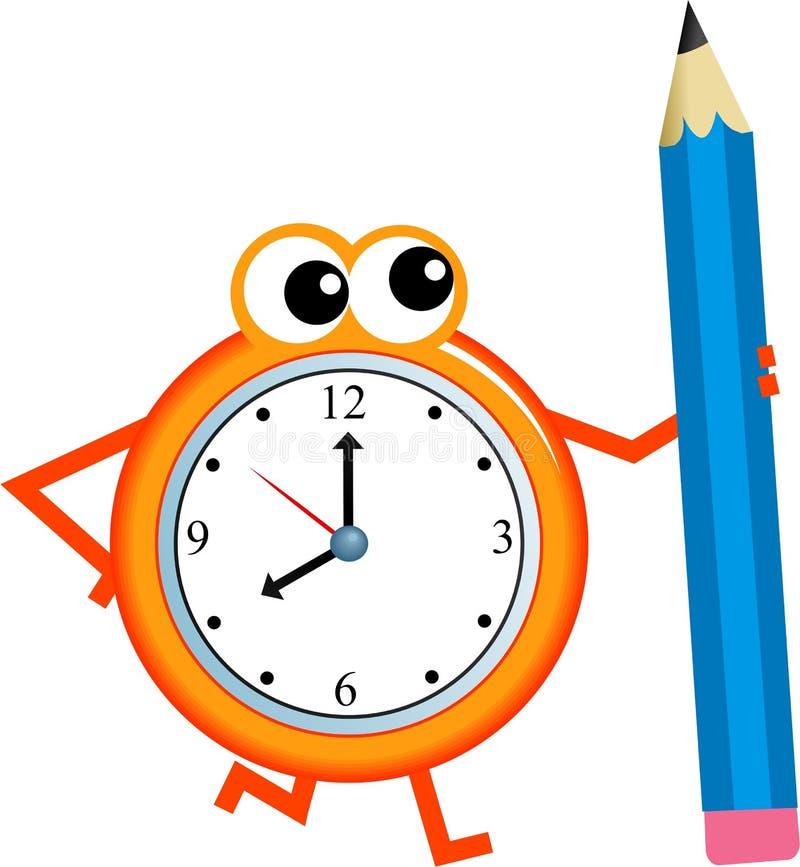 De tijd van het potlood vector illustratie