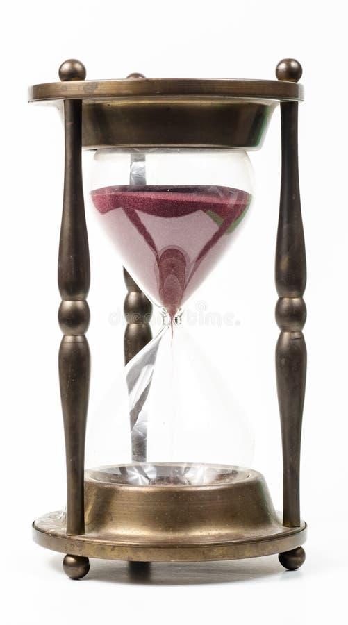 De tijd van het uurglas royalty-vrije stock foto's