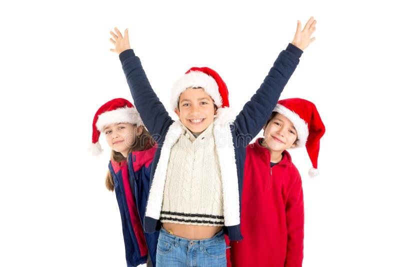 De tijd van Kerstmis is hier stock foto