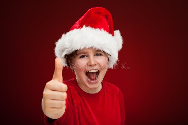De tijd van Kerstmis - O.K. teken royalty-vrije stock foto