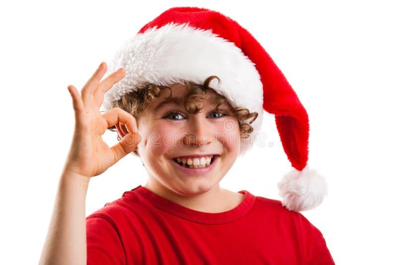 De tijd van Kerstmis - O.K. teken stock foto's