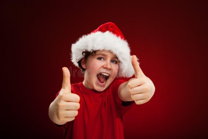 De tijd van Kerstmis - O.K. teken stock foto