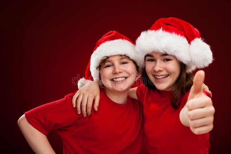 De tijd van Kerstmis - O.K. teken stock fotografie