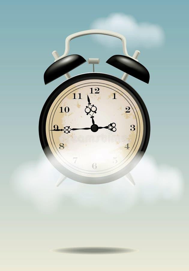De tijd vliegt royalty-vrije illustratie