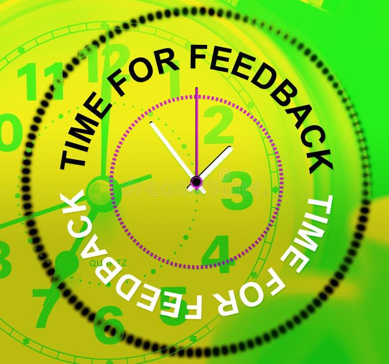 De tijd voor Terugkoppeling wijst Evaluatie op Tevredenheid en Reactie stock illustratie