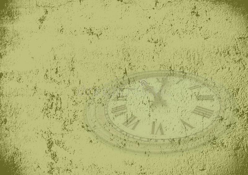 De tijdachtergrond van Grunge vector illustratie