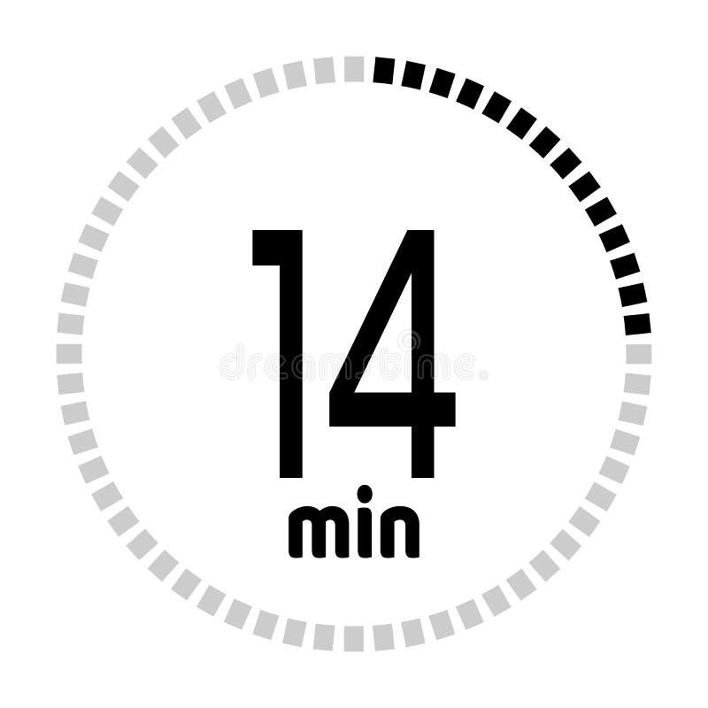 De tijdopnemer van de notulenaftelprocedure vector illustratie