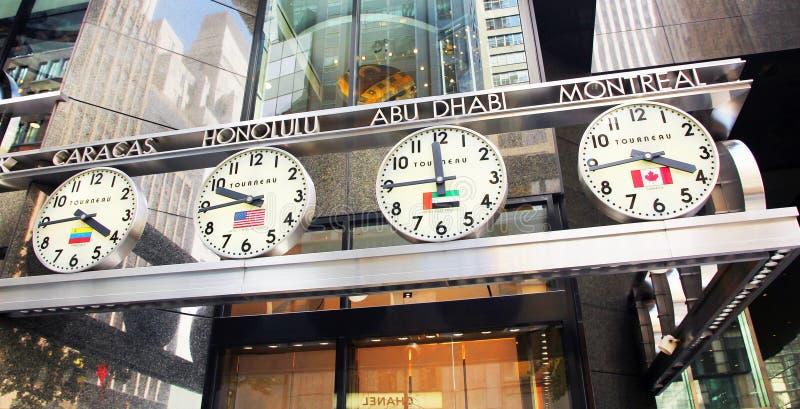 De tijdzone van de wereld. stock foto's