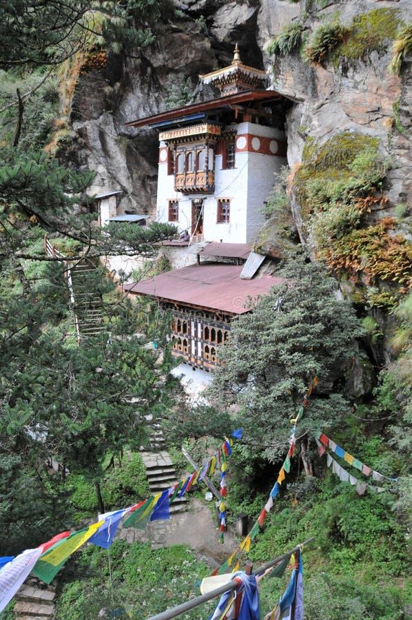 De tijgers nestelen monastary in Paro, Bhutan royalty-vrije stock afbeeldingen
