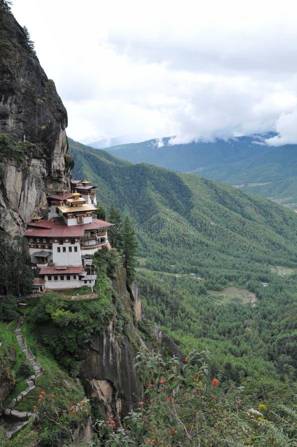 De tijgers nestelen monastary in Paro, Bhutan royalty-vrije stock afbeelding
