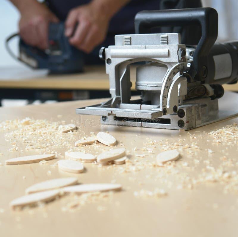 De Timmerman van de Hulpmiddelen van de houtbewerking stock foto