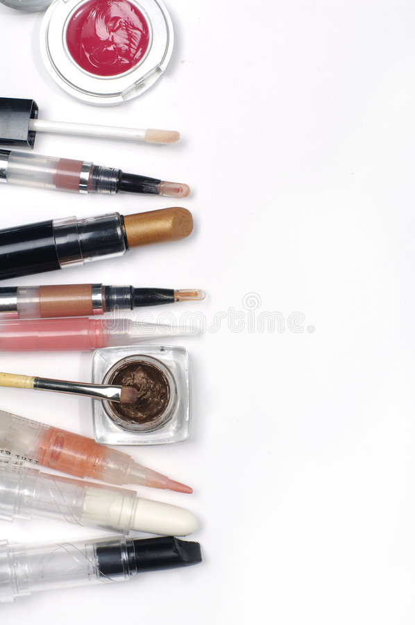 De toebehoren van de make-up stock foto's