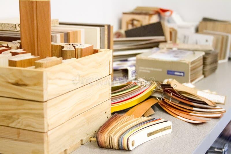De toebehoren van het meubilair Multicolored rand en de melanine van pvc voor de vervaardiging van meubilair stock afbeelding