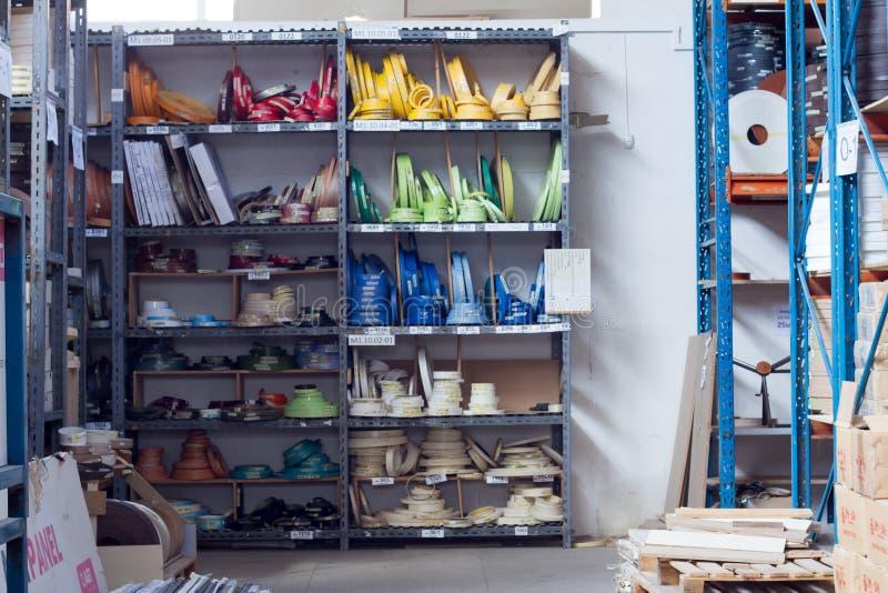 De toebehoren van het meubilair Multicolored spoelen van de rand en de melanine van pvc voor de vervaardiging van meubilair Lig p royalty-vrije stock afbeelding