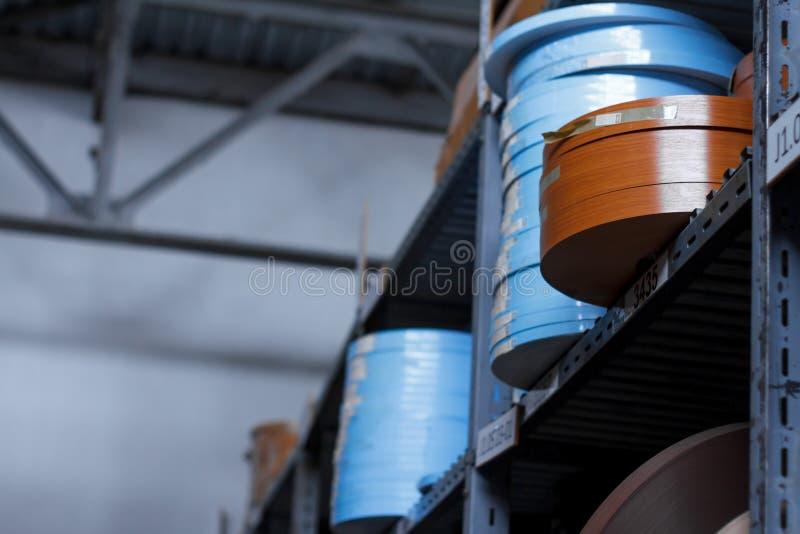 De toebehoren van het meubilair Multicolored spoelen van de rand en de melanine van pvc voor de vervaardiging van meubilair Lig p royalty-vrije stock fotografie