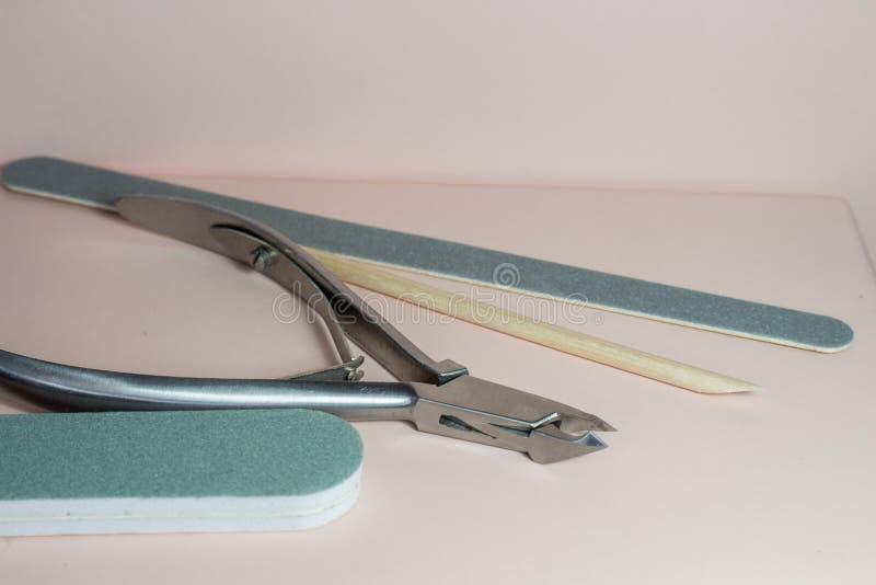 De toebehoren van de spijkerkunst, stilleven met manicure vector illustratie