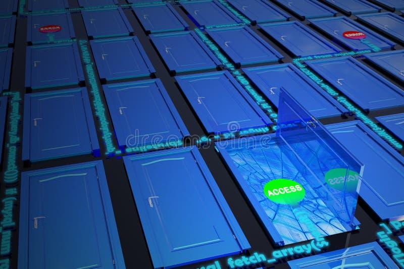 De toegang van het netwerk stock afbeelding
