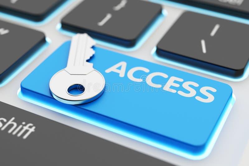 De toegang van veiligheidsgegevens, computernetwerkbeveiliging, toegankelijkheid en vergunningsconcept vector illustratie