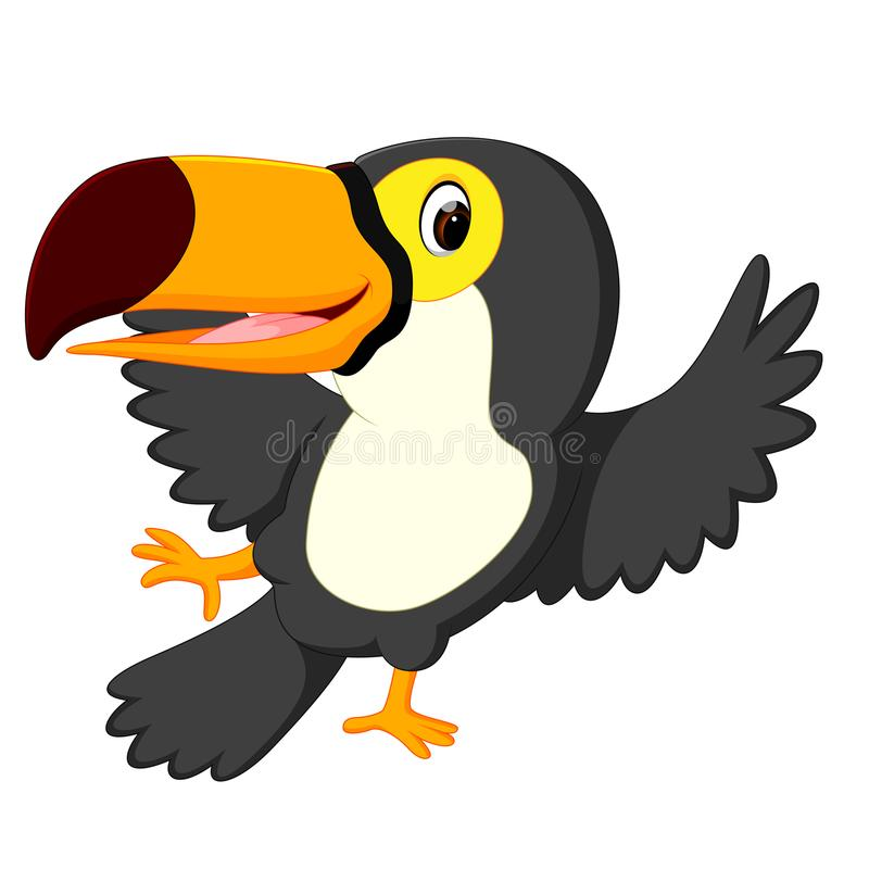 De toekan van de beeldverhaalvogel het dansen vector illustratie