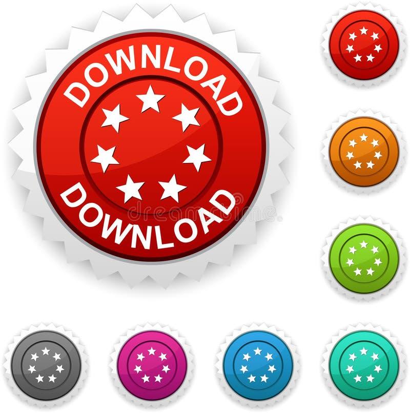 De toekenning van de download. royalty-vrije illustratie