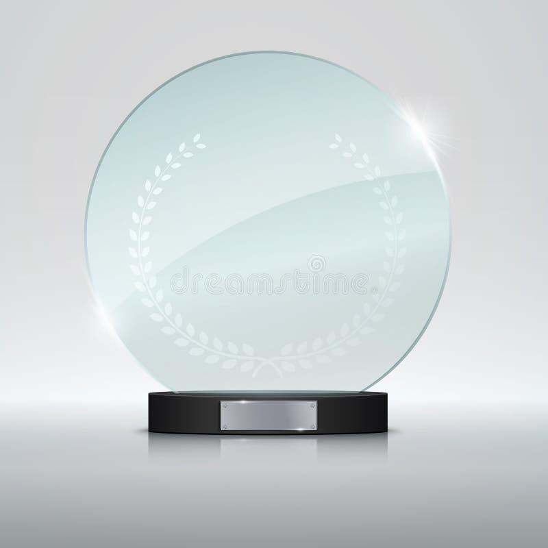 De toekenning van de glastrofee Vector illustratie stock illustratie