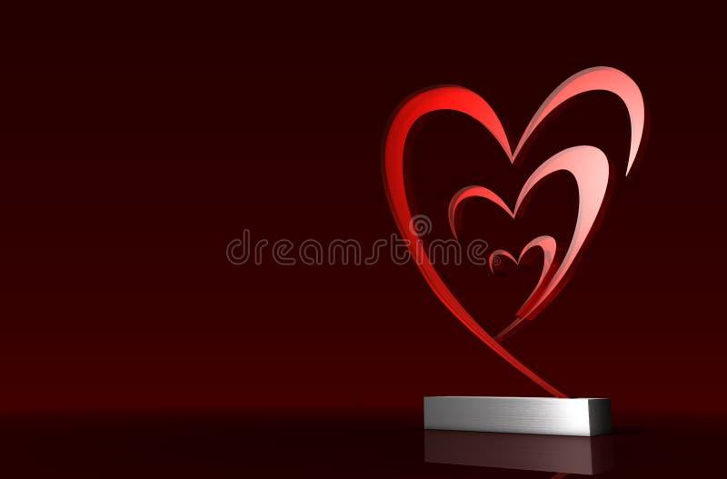 De toekenning van de liefde stock illustratie
