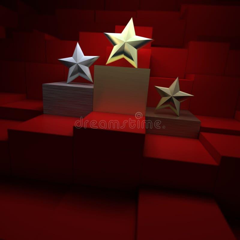 De toekenning van de ster vector illustratie