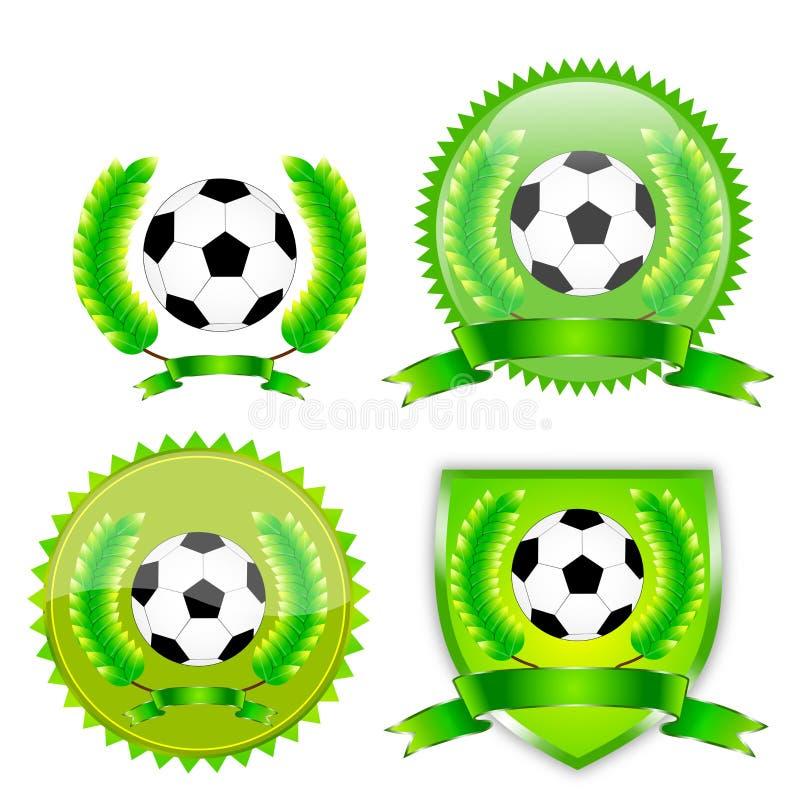 De toekenning van de voetbal stock illustratie
