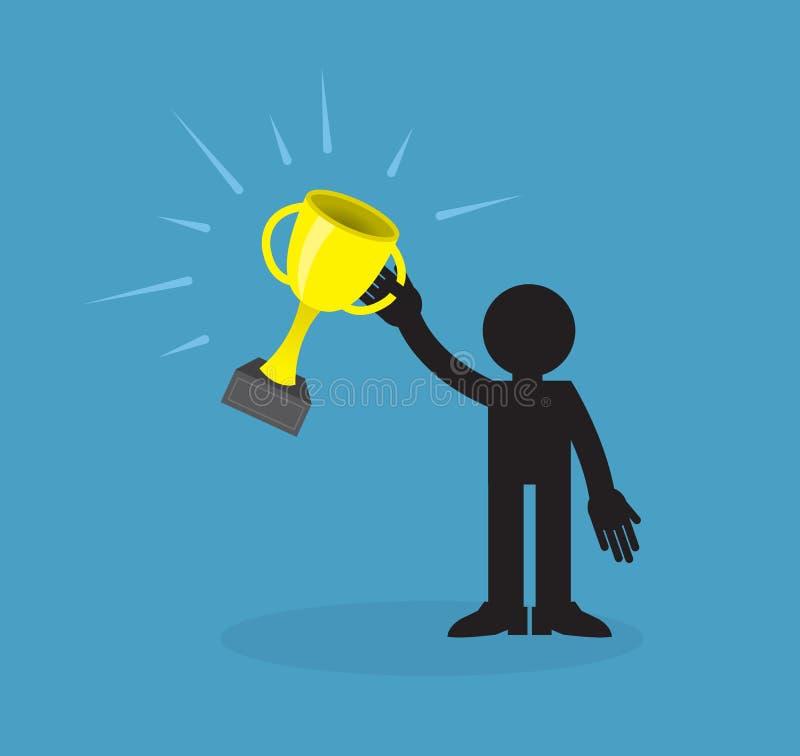 De Toekenning van de winnaarholding vector illustratie