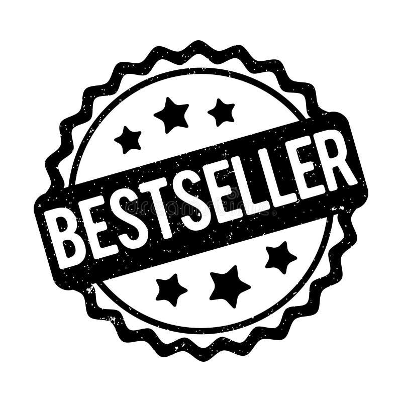 De toekennings vectorzwarte van de best-seller rubberzegel op een witte achtergrond stock illustratie