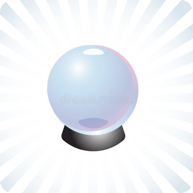 De toekomstige illustratie van de voorspellingskristallen bol vector illustratie